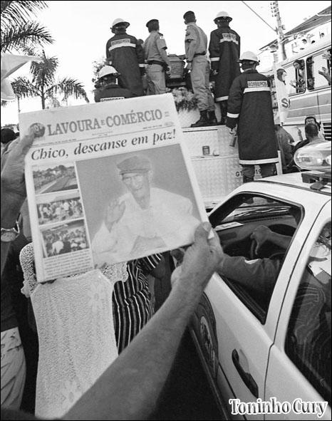 'Morre Chico Xavier' (Foto: Toninho Cury)